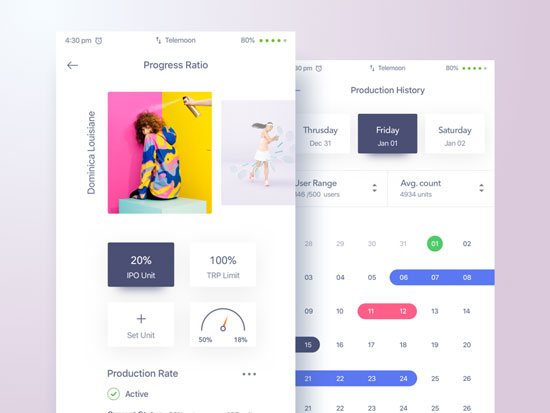 15 Beautiful Gradient Dashboard UI Designs 2017