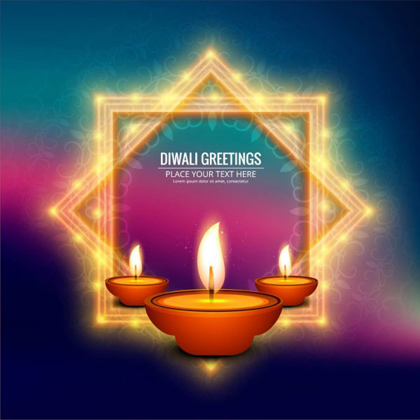Happy diwali vectors wallpapers and greetings free download blurred background with two light frames for diwali happy diwali vectors wallpapers and greetings free download m4hsunfo