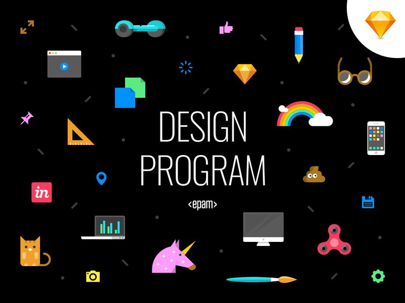 Design Program Icon Cover - Sketch