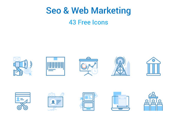 SEO & Web Marketing Icons Set Free Download