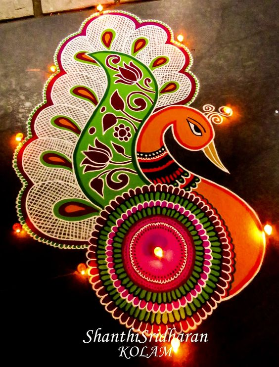 Latest Beautiful Rangoli Designs For Diwali Festival 2017