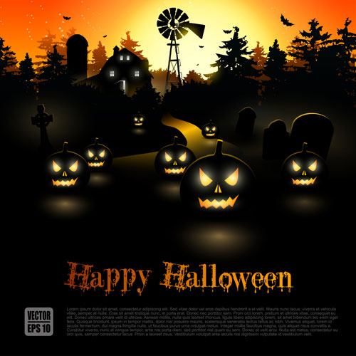 20 Free Halloween Vector Backgrounds Download 2017