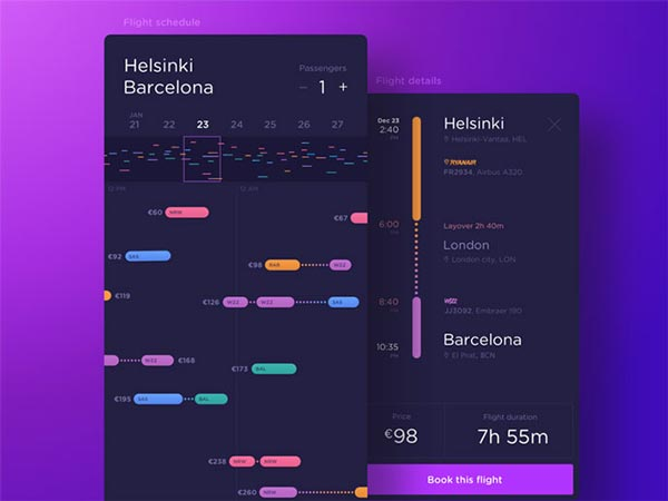 Booking & Payment Mobile App UI Designs For Inspiration