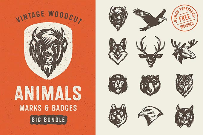 Hand Drawn Savage Animals Vector
