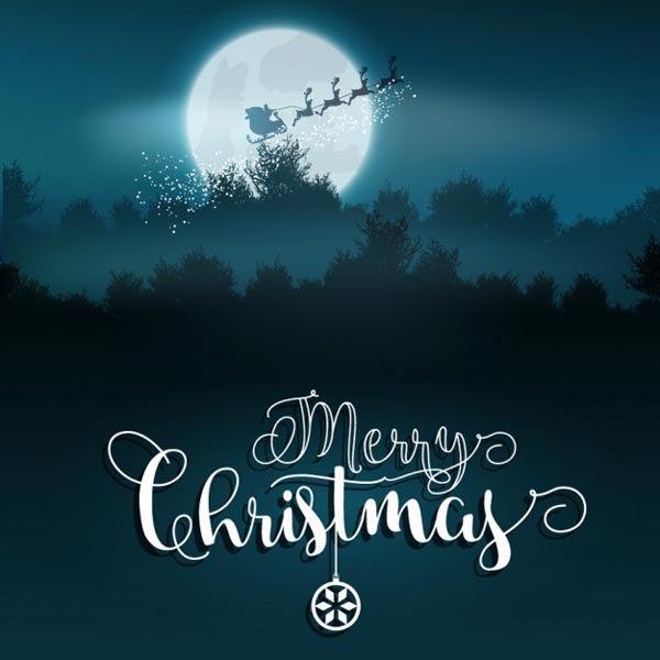 Merry Christmas and Happy New Year 2018 Vector Backgrounds Free