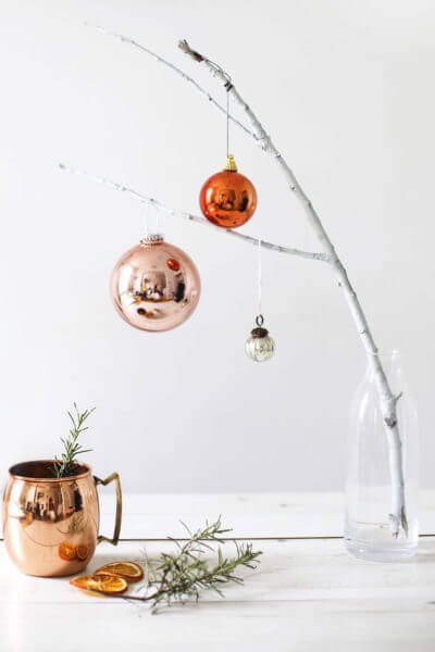 Christmas Real Branch Decoration Ideas