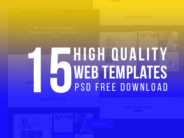 15 High Quality Web Templates PSD Free Download