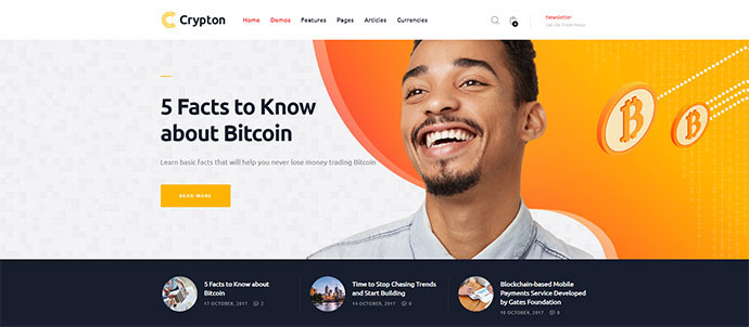 Cryptocurrency WordPress Themes