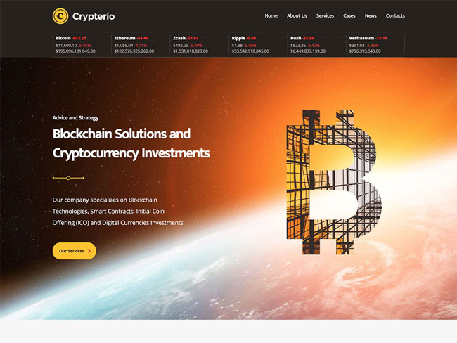 Cryptocurrency WordPress Theme 2018