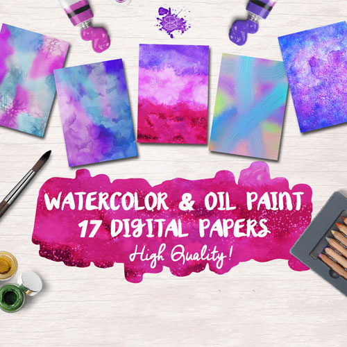 Oil Paint Digital Papers