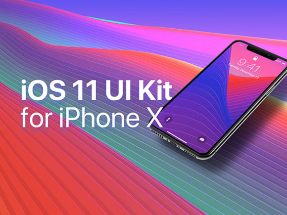 iOS 11 UI kit For iPhone X