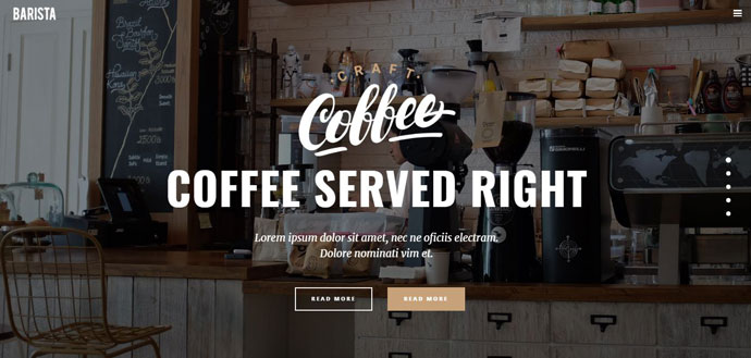 coffee wordpress template