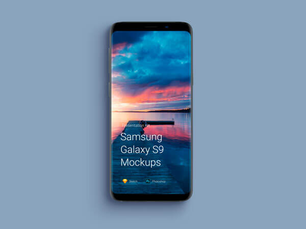 Galaxy S9 and S9 Plus Mockup PSD