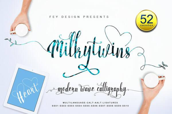 romantic wedding font
