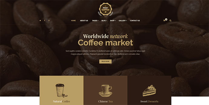 coffee wordpress themes