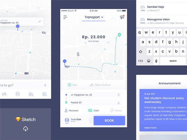 Transport Mobile UI Templates