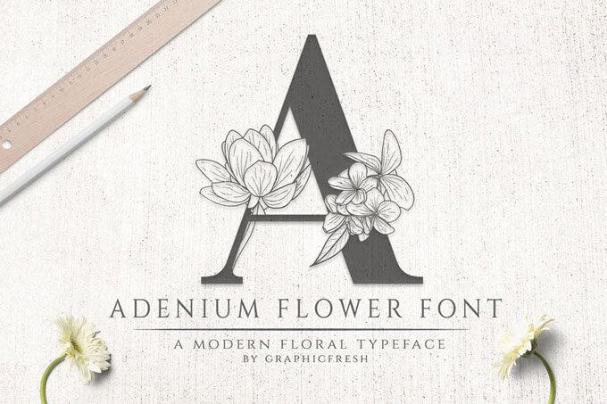 wedding fower font