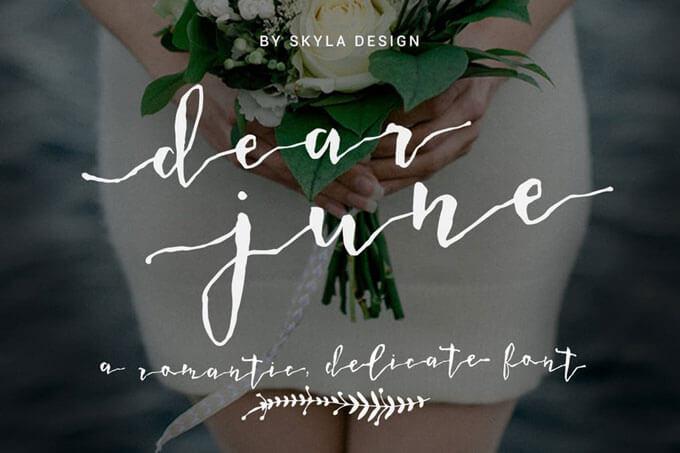 dear june wedding font