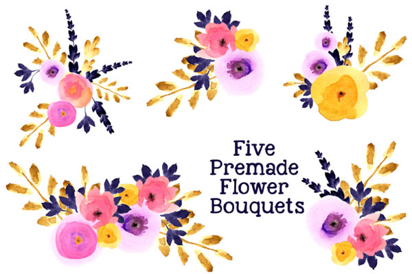 Floral Watercolor Bouquets