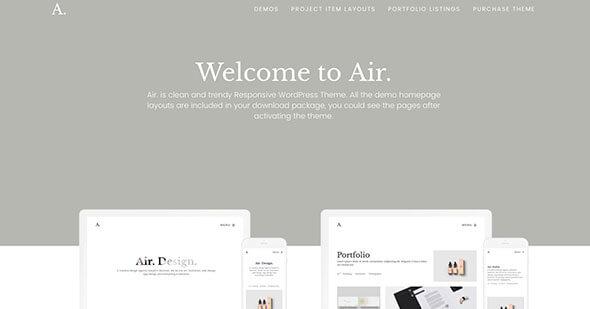 Wordpress minimal portfolio themes