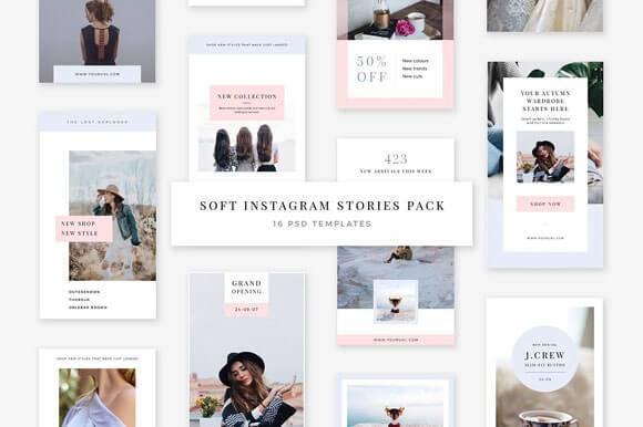Best Instagram Stories PSD Templates Download