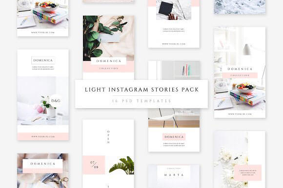 Instagram Stories PSD Templates Download