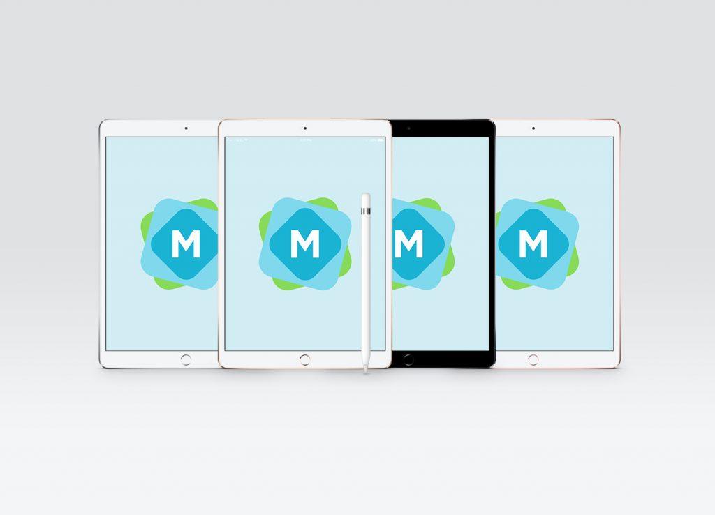 all colors iPad Pro Mockups