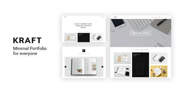 Minimal Portfolio WordPress Themes 2018