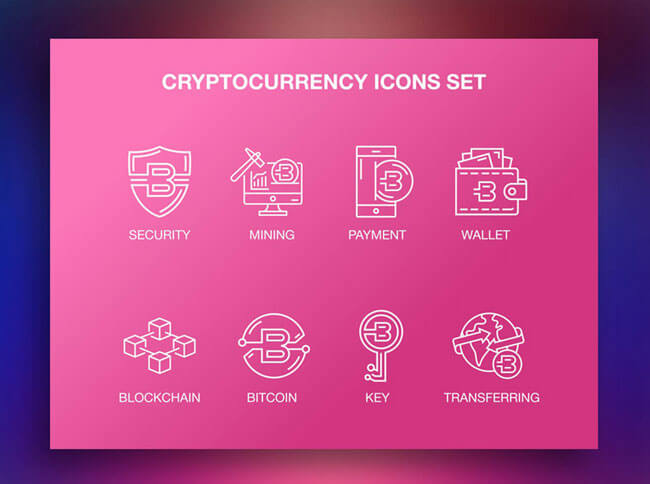 cryptocurrency icons set free