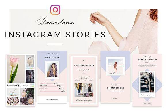 Instagram Stories PSD Templates