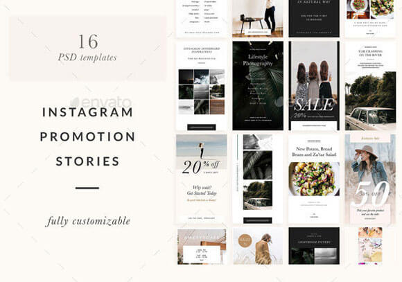 30 Best Instagram Post & Stories PSD Templates Download