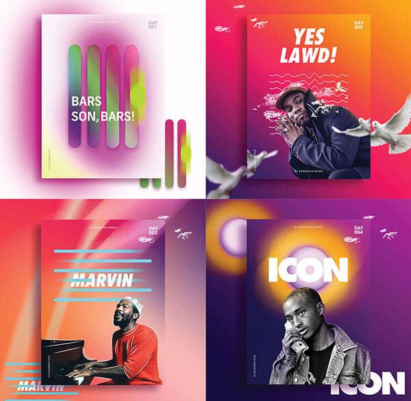 Modern Gradient Poster Designs