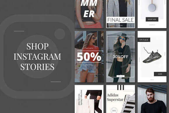 shopping Instagram Stories PSD Templates