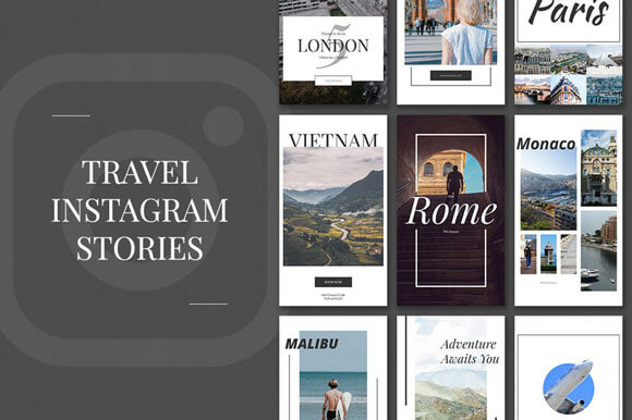 travel Instagram Stories PSD Templates