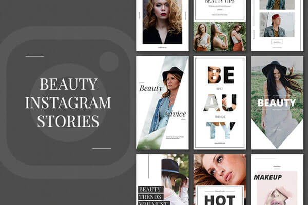 beauty Instagram Stories PSD Templates