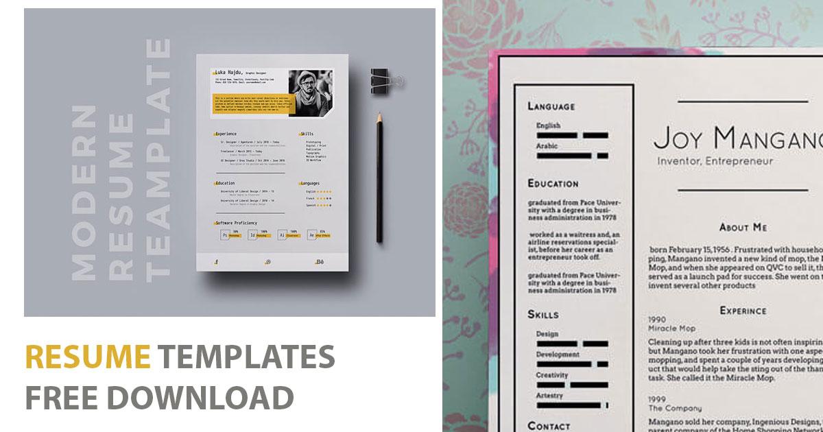 Brilliant Resume Templates Free Download