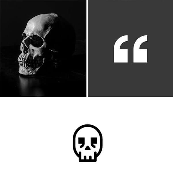creative skull logo design