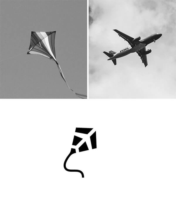 creative kite logo design