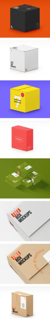 Realistic Box Mockups PSD
