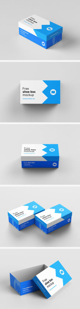 Free Realistic Box Mockups PSD Download