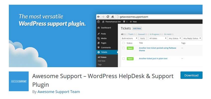 wordpress free customer support plugin