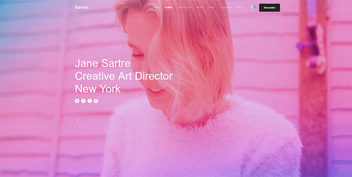Beautiful Gradient Design WordPress Themes