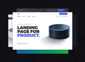 clean product landing page template