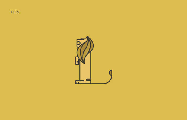 Lion Clever Alphabetical Logos
