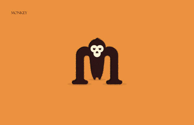 Monkey Clever Alphabetical Logos