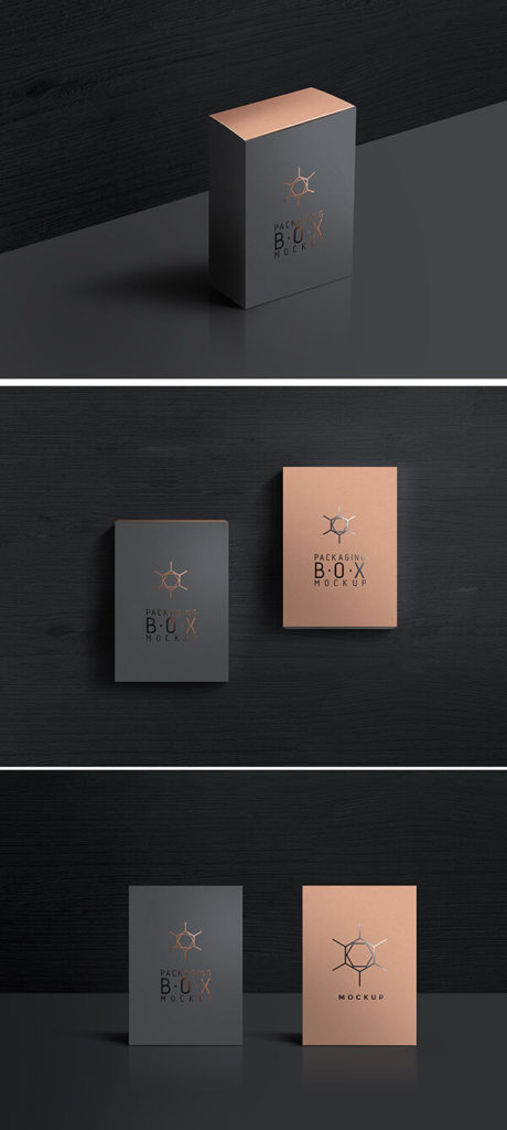 dark box mockup psd