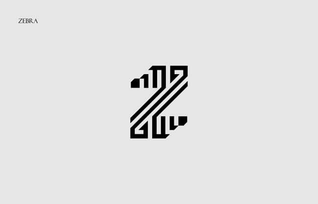Zebra Clever Alphabetical Logos