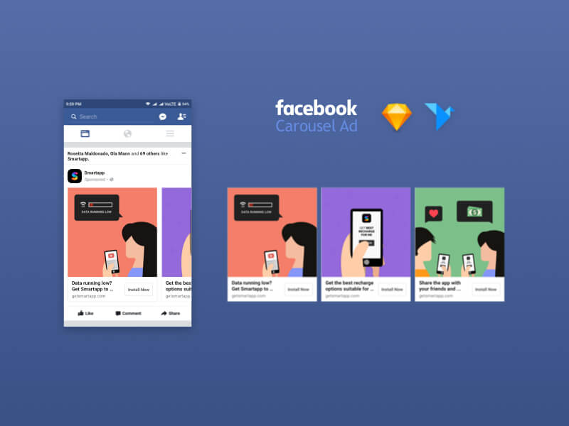 10 Free Facebook Page PSD Templates Download