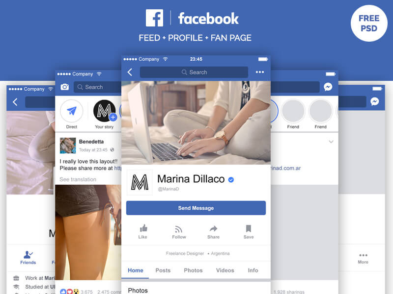 8 facebook page psd mockups free download sanjay web designer. Black Bedroom Furniture Sets. Home Design Ideas