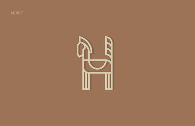 Horse Clever Alphabetical Logos